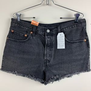 NWT Levi's 501 Button Fly Cut Off Shorts 31W